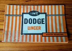 1962 Dodge Lancer Owners Manual Care & Operation Instructions ...