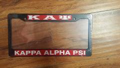 KAPPA ALPHA PSI Fraternity Plastic License Plate Frame Black D...