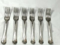 Lot Of 6 Rogers Anchor 1912 PURITAN Forks No Mono