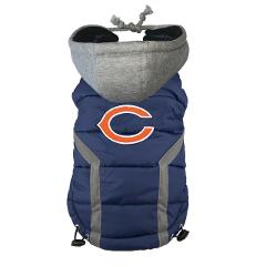 Chicago Bears NFL Little Earth Productions Dog Hoodie Puffer V...