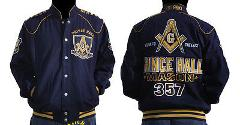 Freemason Mason Masonic Blue Gold Long sleeve jacket Prince Ha...
