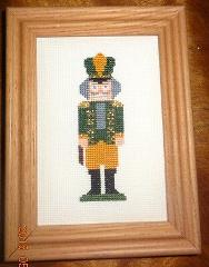 New Christmas Nutcracker Framed Picture Finished Cross Stitch ...