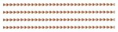 Solid COPPER BALL CHAIN ~ 2.4mm Sold by-the-Foot BULK plus one...