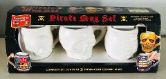 Pirate Mug Set Ready to Paint Perma-Coat CeramicSkull Ship Pir...