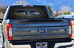 Seattle, Seahawks, Rear Window Graphics, We Can Make Custom Pr...