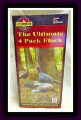 Cherokee Turkey Decoys Ultimate 4 Pack Set-3 Hens-1 Drake-3 Po...