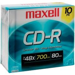 MAXELL 622860/648210 700MB 80-Minute CD-Rs, 10 pk Consumer ele...