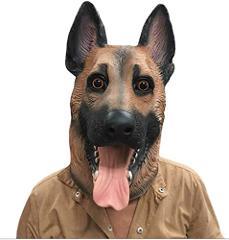 Novelty Latex Animal Dog Head Mask sounding German Shephard