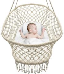Sorbus Baby Crib Cradle, Hanging Bassinet and Portable Swing f...