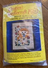 Vintage Creative Needlecraft Brave As A Lion 6745 Crewel Embro...