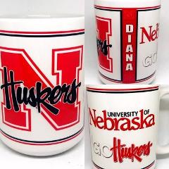 Custom Made Nebraska Huskers 15oz Coffee Mug with your name Pe...
