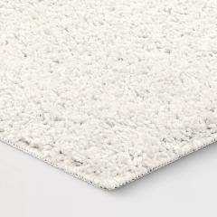 Shag area rug accent home decor white rectangle 2'x3' (24