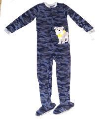 Boy Carters Fleece Footed pajama Blanket Sleeper Sz 6 7 Camo B...