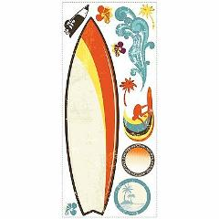 BNIP RoomMates Surfs Up Dry Erase Peel and Stick Giant Wall De...