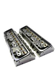 SBC Small Block Chevy GM Angle Plug Aluminum Cylinder Head Set...