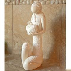Mother and Child Art Statue Hand Carved Stone Sculpture Collec...