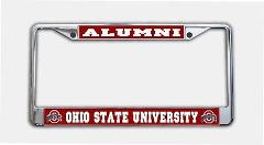Ohio State Buckeyes Alumni Photo License Plate Frame