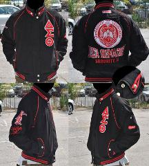 Delta Diva Twill Sorority Jacket DST 1913 BLACK DELTA SIGMA JA...
