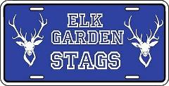 Elk Garden West Virginia Stags License Plate