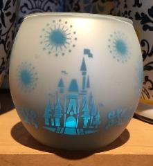 Disney Parks Castle Silhouette Candle Holder with Frosted Glas...