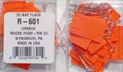 Map Flags (Rectangle) - Orange by Moore Push Pin