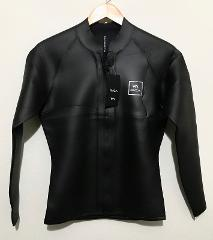 NEW RVCA Mens Wetsuit Jacket 2mm Front Zip Black - Retail $110