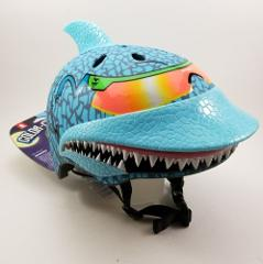 Shark Maxx Blue Children's Helmet w/ Rubber Fin. Changes Color...