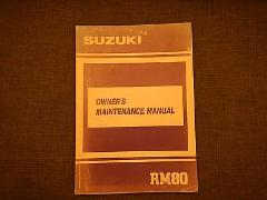 1990 90 SUZUKI RM80 RM 80 OWNER OWNER'S MANUAL