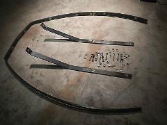 FRONT BUMPER SKID PLATE BARS RAIL SET #2 1986 POLARIS INDY TRA...
