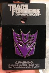 Universal Studios Exclusive Transformers Retro Decepticons Log...