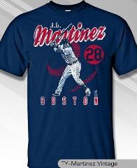 Boston Red Sox JD Martinez #28 MLBPA Vintage Men's Crew Neck T...