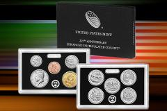 3 2017-S US Mint 225TH Anniversary Uncirculated ENHANCED 10 Co...
