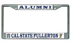 Cal State Fullerton Alumni Chrome License Plate Frame
