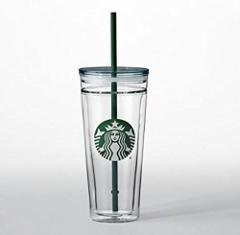Starbucks Venti Clear Glass Double Wall Tumbler Cold Cup 20oz ...