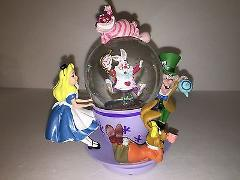 Disney Parks Alice in Wonderland Spinning Tea Cup Resin Snow G...