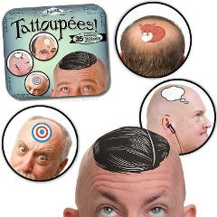 Accoutrements Tattoupees Stickers Bald Tattoos Funny Humor Ga...