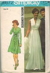 6672 Vintage Simplicity Sewing Pattern Misses Designer Fashion...