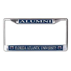 Florida Atlantic University Alumni Chrome License Plate Frame