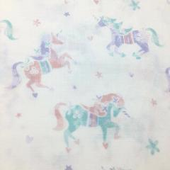 4pc Nicole Miller Unicorn FULL Sheet Set Rose Pink Purple Teal...