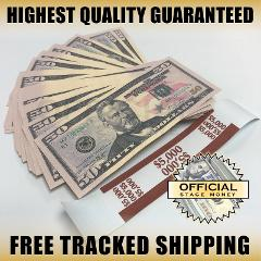 100x $50 Bills Top Stack For Film, Movies, TV, Videos Play Sta...