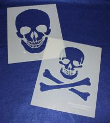 Large Skull Stencils - Painting/Crafts/Stencil/Template 2 Pc S...