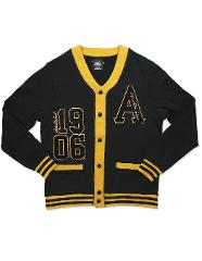 ALPHA PHI ALPHA FRATERNITY CARDIGAN SWEATER BLACK GOLD SWEATER...