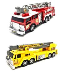 Fire Engine Or Construction Rescue Team Vehicles Red Yellow Li...