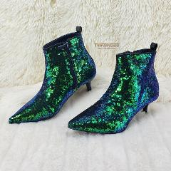 Harmoni Green Mermaid Sequin Pointy Toe 1.5