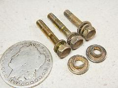 96 KAWASAKI KEF300 GAS FUEL PETROL TANK MOUNTING BOLTS & CRUSH...