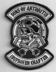 Son Of Arthritis Ibupoen Chapter motorcycle Back Patch 12'' by...