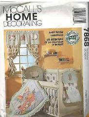 7868 UNCUT McCalls SEWING Pattern Baby Infant Room Essentials ...
