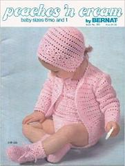 PEACHES 'N CREAM BY BERNAT BABY SIZES 6 MONTHS AND 1 (#255)