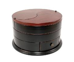 Executive Classic Serenity Ying Yang wooden Jewellery Box gift