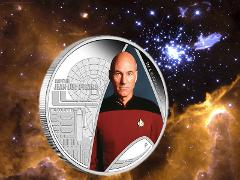 2015 Star Trek Next Generation Captain Jean-Luc Picard 1oz 999...